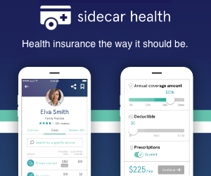 Sidecar Health - NO surprise bills and savings of 40% or more over traditional insurance.