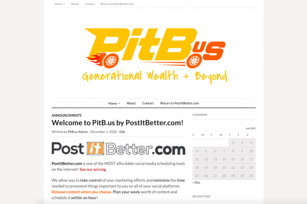 Welcome to PitB.us by PostItBetter.com!